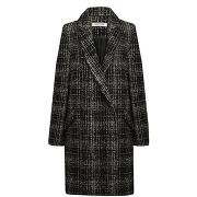 Naf naf [fr) manteau croisé façon tweed noir