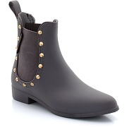 Boots de pluie esprit chelsea, petits clous gris - be only