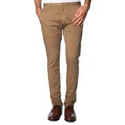 Pantalons chino hugo - hugo boss pour homme - pantalon chino strech ajusté helgo beige