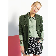Veste eucalyptus en lin style officier - vert - femme - tara jarmon
