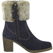 Soldes ! boots cuir fourrées resia - - bleu - tamaris