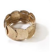 Bracelet martelé fantaisie antik brass