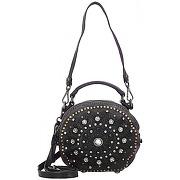 Campomaggi bauletto mini bag sac bandouliére cuir 18 cm nero