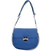 Furla club s sac à main porté à l'épaule cuir 25 cm blu pavone