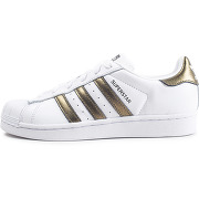 Adidas superstar w blanche et or femme baskets