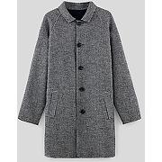 Manteau léger réversible-gris carreaux-l,m,s,xl-blousons, manteaux