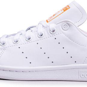 Baskets adidas stan smith blanche et orange femme