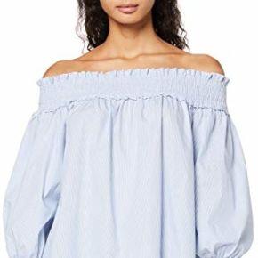 Find. blouse Épaules dénudées femme -bleu...