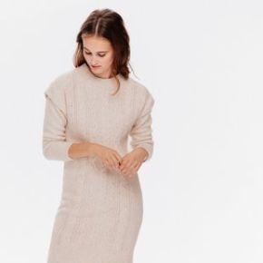 Robe-pull torsadée ecru - promod