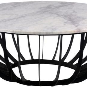 Table basse ronde marbre/fer - beredi taille l...