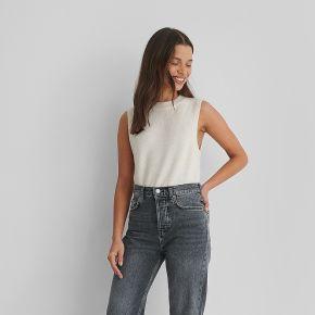 Mango jean court - grey