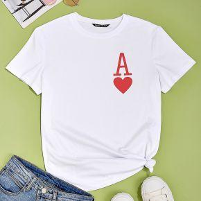 T-shirt avec imprimé poker