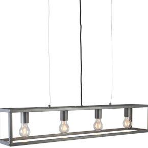 Lampe suspendue moderne anthracite - cage 4...