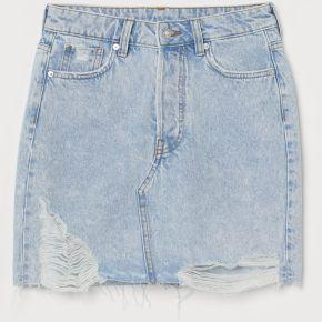 H & m - jupe en jean - bleu