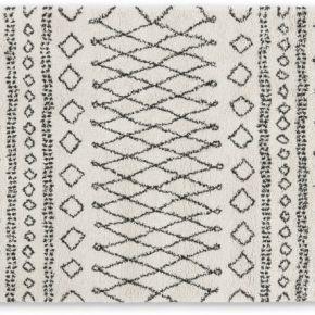 Freda, grand tapis 160 x 230 cm, blanc cassé