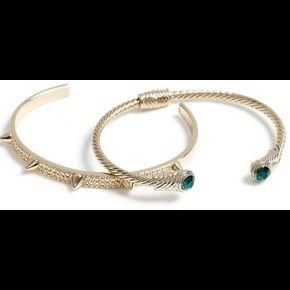 Lot de bracelets manchettes dorés