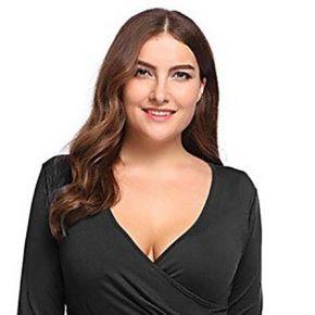 Femmes de grande taille dames mode asymétrique...