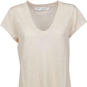 Iro femme wp19palmywhi16 blanc lin t-shirt