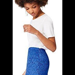 Find. lace midi jupe femme, bleu (dazzling...