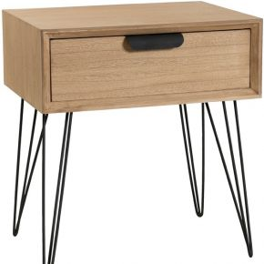 Table de chevet 1 tiroir - spingle - l 48 x l...