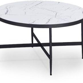 Salome - table basse en bois ronde imitation...