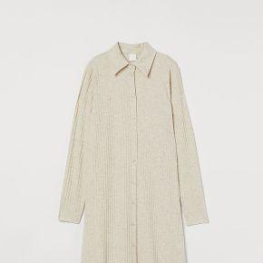 H & m - robe chemise côtelée - beige