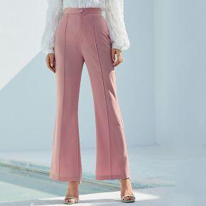 Pantalon bootcut unicolore