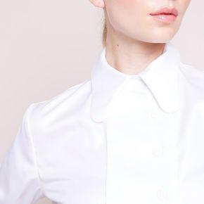 Carven-femme-chemise asymétrique blanc...