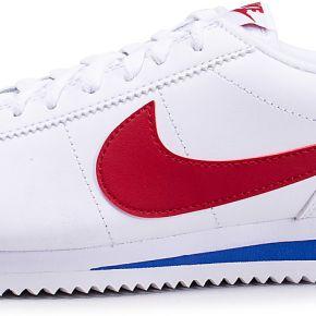Nike homme cortez basic blanche bleue et rouge...