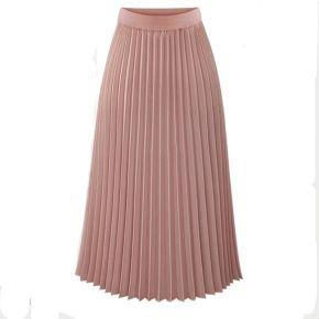 Jupe plissées femme taille haute svelte couleur...