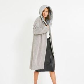 Long manteau à capuche femme imprimé...