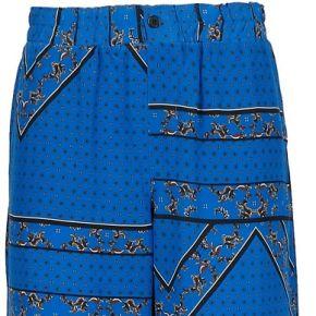 Ganni femme f2916593 bleu soie pantalon
