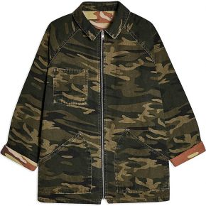 Reversible camouflage shacket blouson topshop...