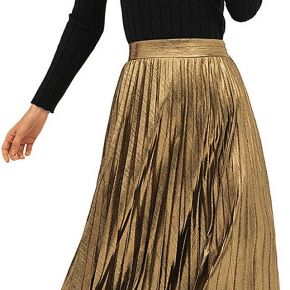 Buyiesky®fashion women's plain pleated elegant...