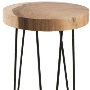 Table d'appoint métal/bois taille s - cory - l...