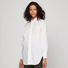 Chemise javiera droite en coton blanc blanc...