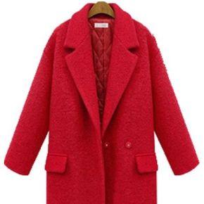 Caban femme mode casual rouge lkg-nz3060