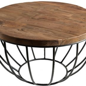 Petite table basse en teck et métal - asio n°2...