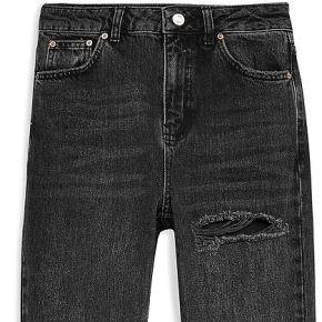 Washed black willow rip mom jeans pantalon en...