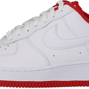 Nike homme air force 1'07 blanc rouge baskets