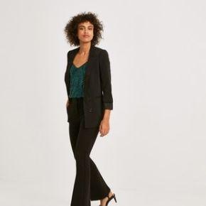 Pantalon chic bootcut femme noir - promod