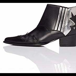 Find. western botines, noir black/silver), 36 eu