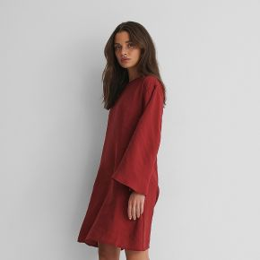 Na-kd reborn robe manches larges - red