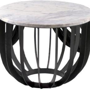Table d'appoint ronde marbre/fer - beredi - l...