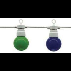 Guirlande guinguette 10 ampoules led colorées...