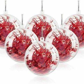 Mbuynow 20pcs boules de noël transparente à...