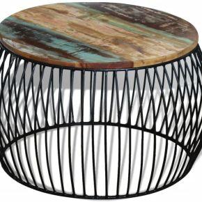 Table basse ronde 68x43 cm bois de récupération...