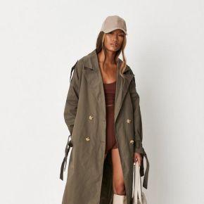 Vert kaki trench-coat oversize kaki