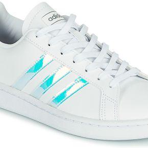 Basket femmes adidas grand crt w sil blanc solde