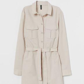 H & m - robe saharienne en coton - beige